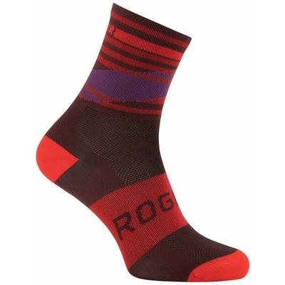 Design functional socks Rogelli STRIPE, red-burgundy-violet 007.206, Rogelli