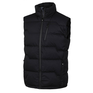 Men feather vest Husky Deep M black, Husky