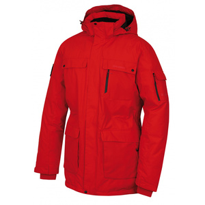 Men feather jacket Husky Dantex M red, Husky