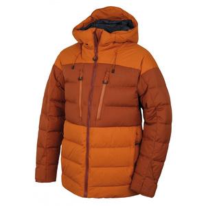 Men feather jacket Husky Dester M brown-orange / brown, Husky