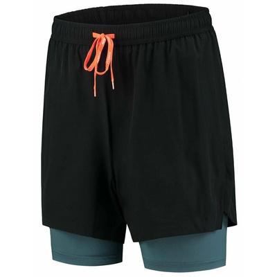 Loose running shorts Rogelli ESSENCE, black-gray-turquoise 830.744, Rogelli