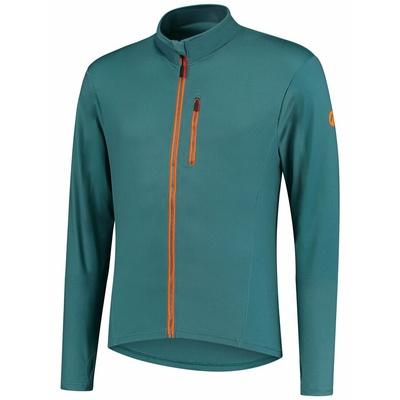 Men running hoodie Rogelli ESSENCE, turquoise-orange 830.828, Rogelli