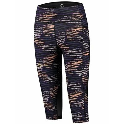 Women running 3/4 shorts Rogelli INDIGO, purple-orange-black 840.719, Rogelli