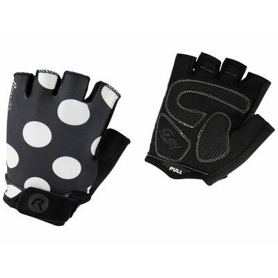 Women cycling gloves Rogelli SPRINKLE, black and white 010.617, Rogelli