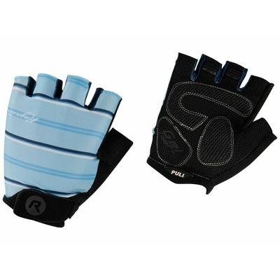 Women gloves to round Rogelli STRIPE, light blue-blue 010.620, Rogelli