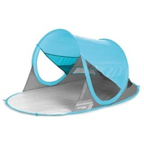 Spokey STRATUS A self-deployable beach paravan UV 40 190x120x90cm light blue, Spokey