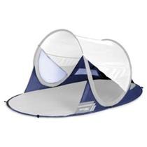 A self-deployable beach paravan Spokey STRATUS UV 40 190x120x90 cm white-blue, Spokey