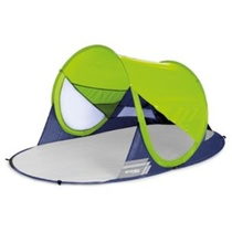 A self-deployable beach paravan Spokey STRATUS UV 40 190x120x90 cm lime, Spokey