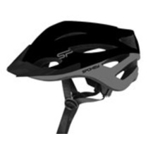 Cycling helmet for adults Spokey SPECTRO 58-61 cm, black, Spokey