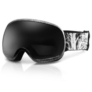 Spokey PARK ski glasses black and white, Spokey