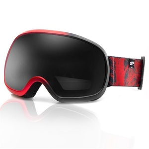Spokey PARK ski glasses black and red, Spokey