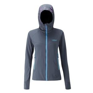 Women hoodie Rab Alpha Flux beluga, Rab