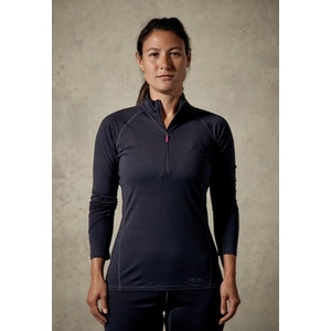 Women shirt Rab Merino+ 160 zipper ebony, Rab