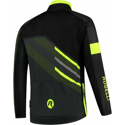 Membrane cycling jacket Rogelli TEAM 2.0, black-reflective yellow 003.970, Rogelli