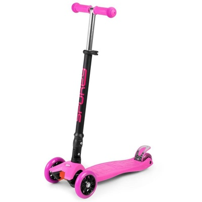 Folding three-wheeler Spokey PLIER pink, Spokey