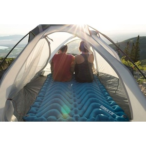 Inflatable sleeping pad Klymit Double V blue, Klymit