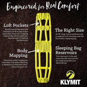 Inflatable sleeping pad Klymit Inertia X Frame yellow, Klymit