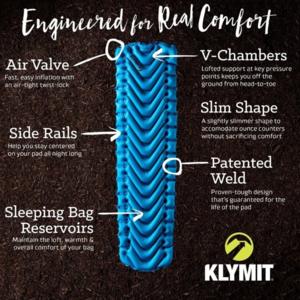 Inflatable sleeping pad Klymit V Ultralite SL Grand Teton Artist Edition blue, Klymit