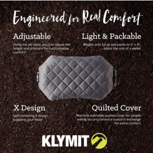 Inflatable pillow Klymit Luxe Pillow grey, Klymit