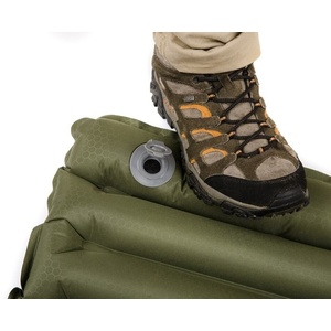Inflatable sleeping pad with built-in pump Snugpak Air Mat olive green, Snugpak