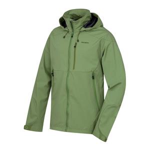 Men softshell jacket Sauri M dark green, Husky
