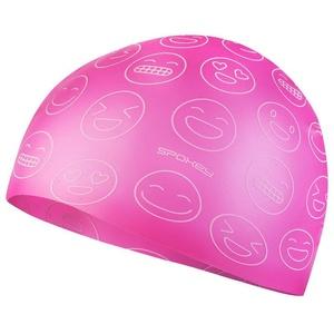 Junior swimming cap Spokey EMOJI pink, Spokey
