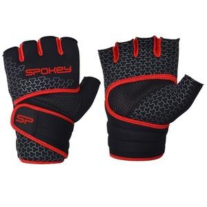 Neoprene fitness gloves Spokey LAVA black and red, Spokey