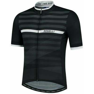 Bike jersey Rogelli STRIPE with short sleeve, black and white 001.100, Rogelli