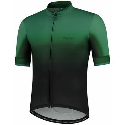 Design bike jersey Rogelli HORIZON with short sleeve, black and green 001.417, Rogelli