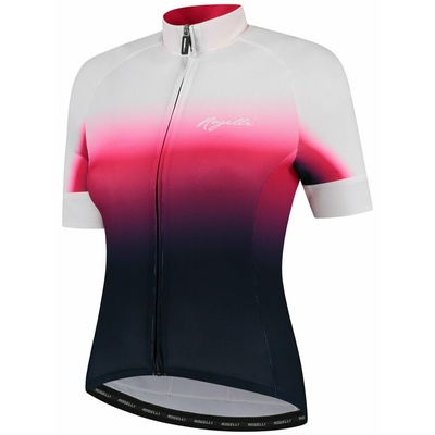 Women's premium bike jersey Rogelli DREAM with short sleeve, blue-pink-white 010.091, Rogelli