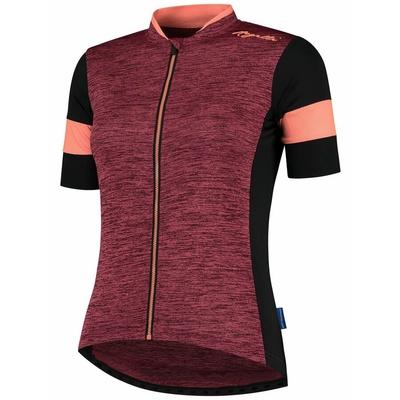 Women's bike jersey Rogelli CHARM 2.0 with short sleeve, burgundy-black-coral 010.102, Rogelli
