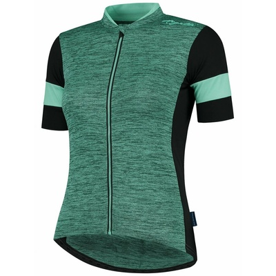 Women's bike jersey Rogelli CHARM 2.0 with short sleeve, turquoise-black 010.103, Rogelli