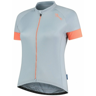 Women's cycling jersey Rogelli MODESTA with short sleeve, gray-blue-coral 010.109, Rogelli