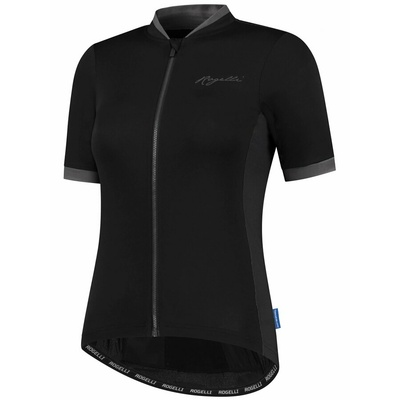 Women's airy cycling jersey Rogelli ESSENTIAL short sleeve, black and grey 010.194, Rogelli