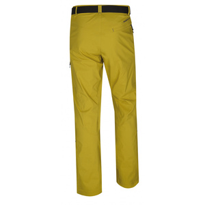 Men outdoor pants Husky Kahula M yellow-green, Husky