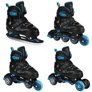 Skates Spokey QUATTRO 4IN1 black-dark blue, adjustable, Spokey