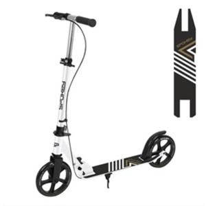 Scooter with handbrake Spokey AYAS PLUS castors 200 mm, white, Spokey