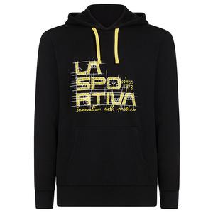 Men hoodie La Sportiva Project Hoody black / yellow, La Sportiva