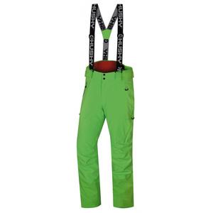 Men ski pants Husky Mitaly M neon green