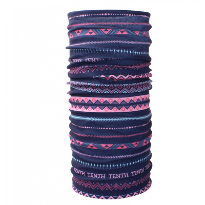 multifunctional kerchief Husky Printemp pink triangle stripes, Husky