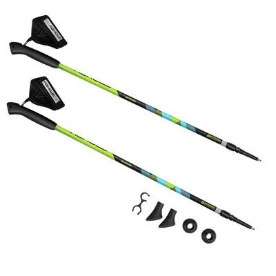 Hole Nordic Walking Spokey MEADOW II black and green with blue