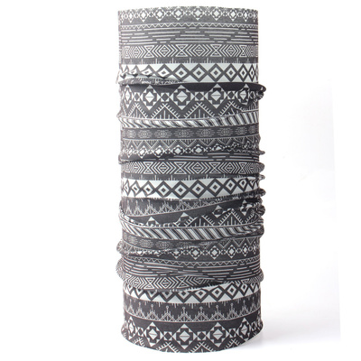 Multifunction kerchief Husky Printemp grey triangle stripes, Husky