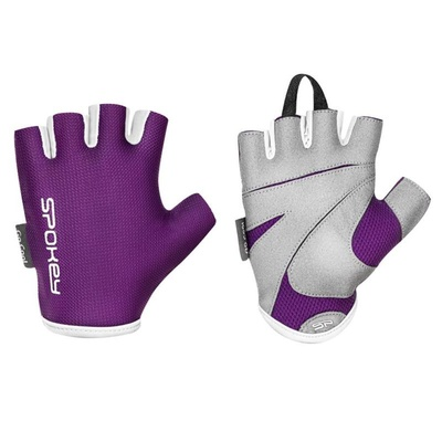 Spokey LADY FIT Women fitness gloves, purple, vel-L, Spokey