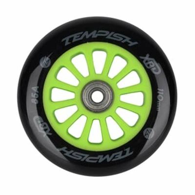 Scooter wheel with bearing Tempish PU 85A 110x24 green, Tempish