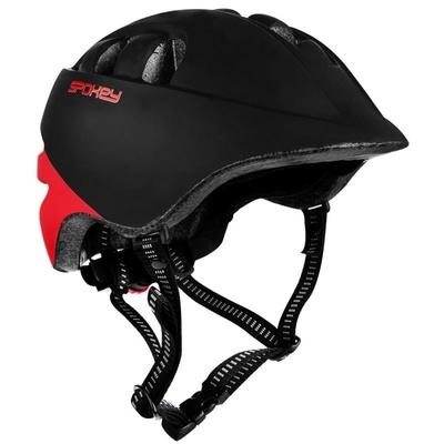 Children's cycling helmet Spokey CHERUB 48-52 cm, black and red, Spokey