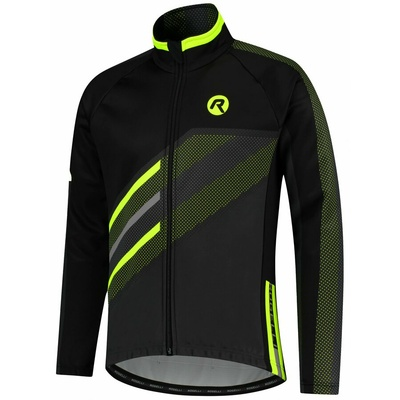 Membrane cycling jacket Rogelli TEAM 2.0, black-reflective yellow 003.970