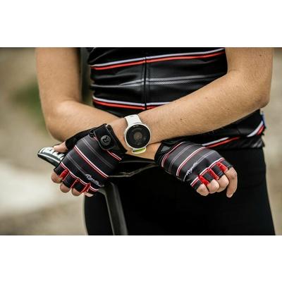 Women gloves to round Rogelli STRIPE, black-white-red 010.619, Rogelli