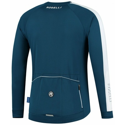 Men's cycling jersey without insulation Rogelli Explore blue-white ROG351001, Rogelli