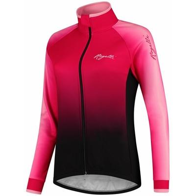 Women's cycling jersey Rogelli Glow long sleeve pink-black GLOWLS, Rogelli