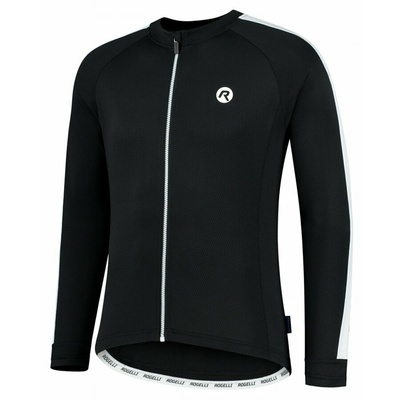 Men's cycling jersey without insulation Rogelli Explore black and white ROG351000, Rogelli